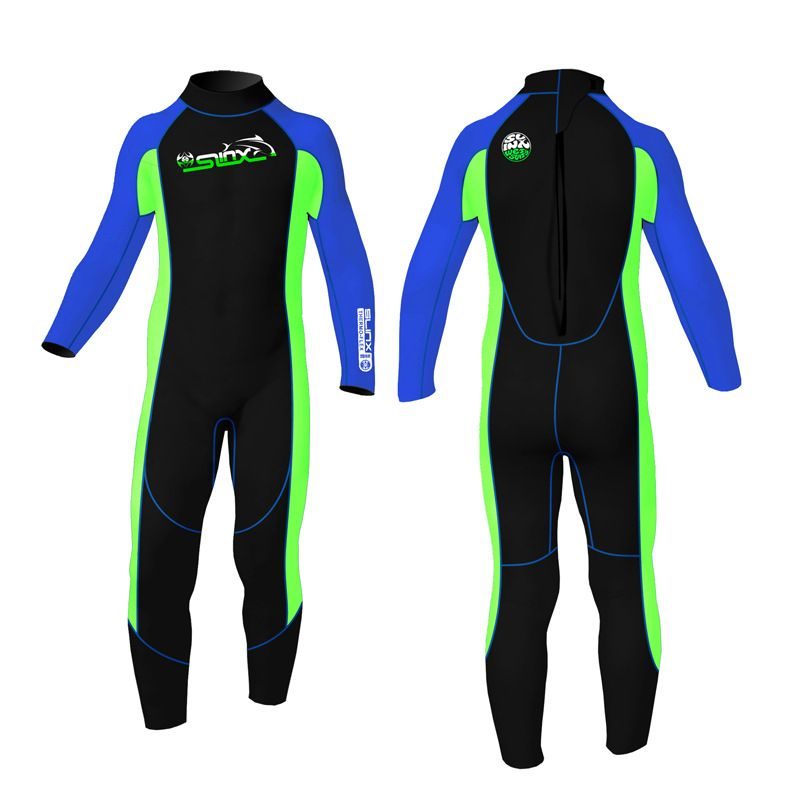 SLINX Kids neoprene 2mm full body wetsuit for boys rash guard girls swimming bathing wetsuits