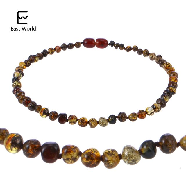 EAST WORLD Amber Necklace for Women Baltic Natural Amber Beads Baby Jewelry for Boy Girl Infant Teething Gifts for Etsy Supplier