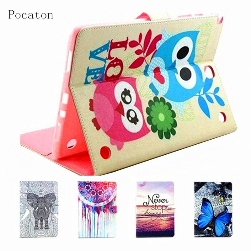 Pocaton For Samsung Galaxy Tab A 9.7 T550 Case Cover Stand Cartoon Leather Case For Samsung Galaxy Tab A SM-T550 Tablet Case