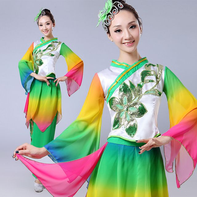 embroidery Traditional chinese dress Chinese costumes Chinese folk dance costume yangko costumes  chinese dance costume