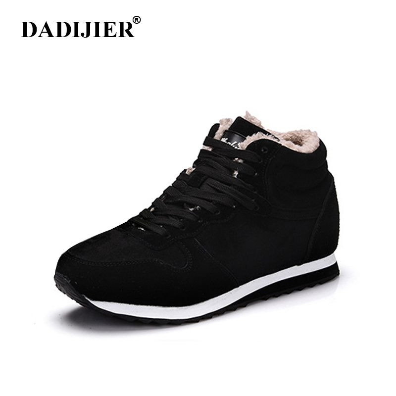2018 New Fashion Men Snow Boots Plush Super Warm Suede leather Boots Men boots Work Shoes Outdoor lover Winter shoes ST13