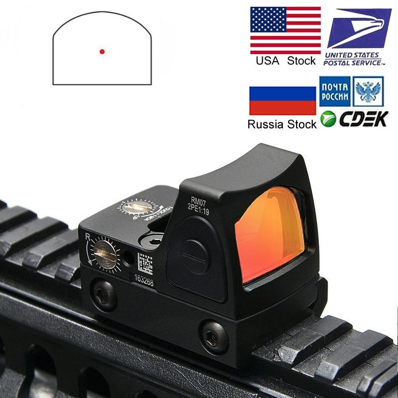 Mini RMR Red Dot Sight Collimator Glock / Rifle Reflex Sight Scope fit 20mm Weaver Rail For Airsoft / Hunting Rifle