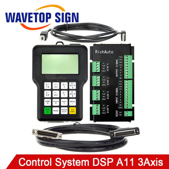 RichAuto DSP A11 CNC Controller A11S A11E 3-Axis Controller for CNC Router Better Than DSP 0501 Controller