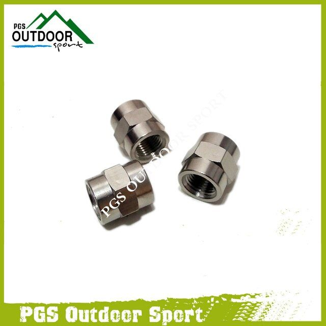 "Paintball Air Fitting 3pcs Hose Pipe Hex Nipple Fitting Double 1/8"" NPT Male/Female Threads"