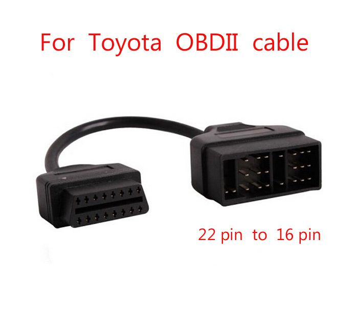 For Toyota OBD Connect 22 Pin 22pin Male to OBD2 OBDII DLC 16 Pin 16pin Female Connection Adapter Cables Diagnostic cable