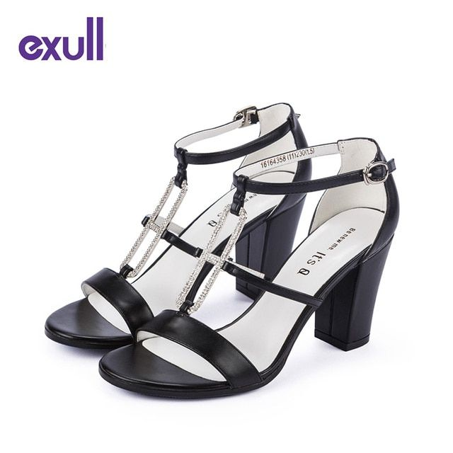 EXULL Brand New Woman Sandals Brief High Heel Shoes Luxury Women Sandals Summer Ladies Shoes Chaussure Femme #16164358