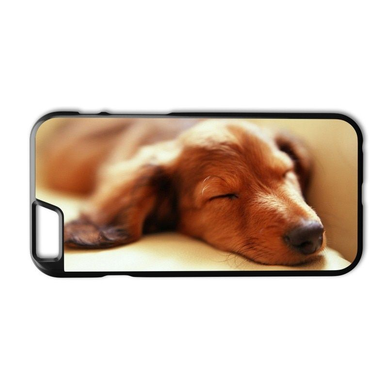 Sleeping Dachshund Dog Puppy Case for iPhone 5 5S 6 6S 7 8 Plus X XS MAX XR Samsung Galaxy S4 S5 S6 S7 Edge S8 S9 Plus