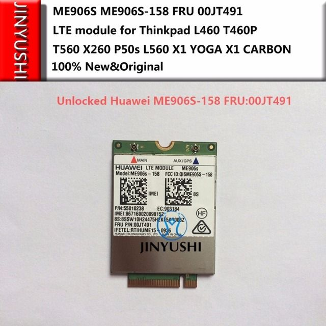JINYUSHI For ME906S ME906S-158 FRU 00JT491 NEW&Original LTE module for Thinkpad L460 T460P T560 X260 P50s L560 X1 YOGA X1 CARBON