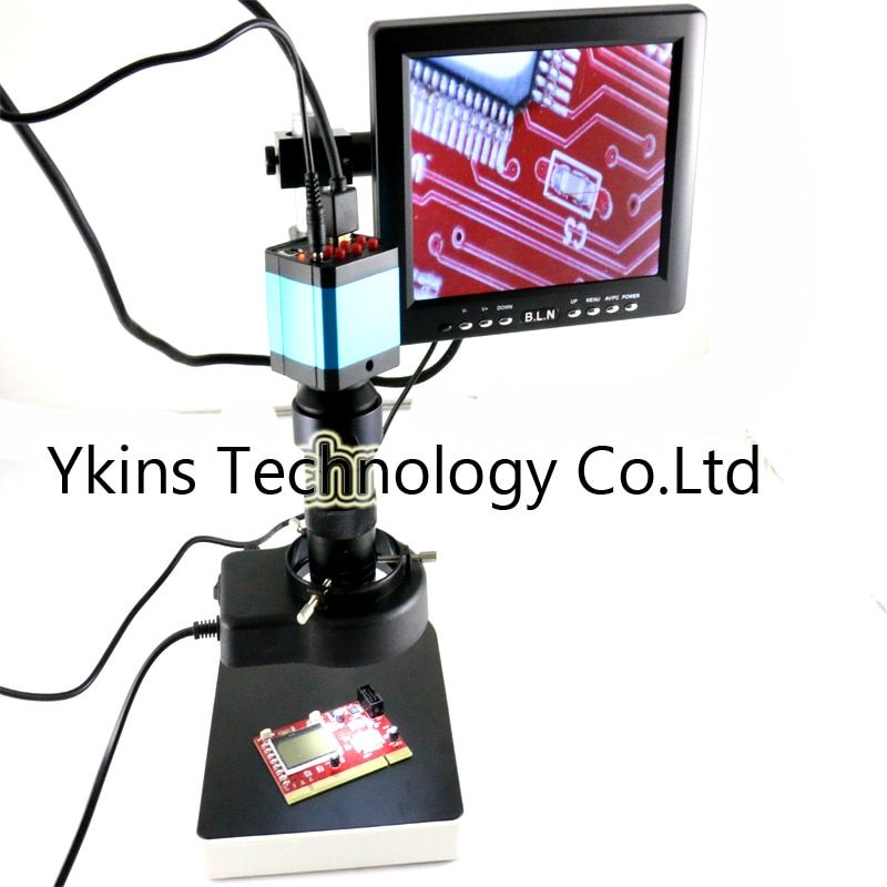 14MP HDMI HD USB Digital Industry Video Microscope Camera Set+ Stand bracket +130X C-MOUNT Lens+56LED Light