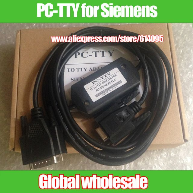 1pcs PLC programming cable PC-TTY for Siemens S5 series / serial download cable compatible 6ES5734-1BD20 Electronic Data Systems