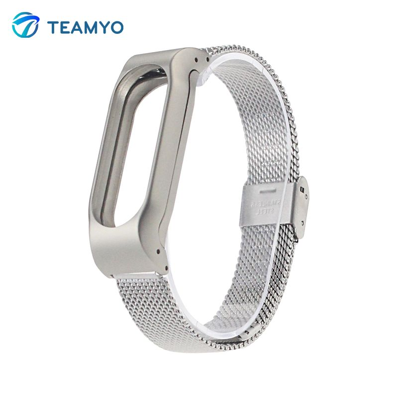 Metal Stainless Steel Strap For Xiaomi Mi Band 2 MIBand 2 Metal Wrist Bracelet Accessories Mi Band 2 Miband Bracelet Pulseira