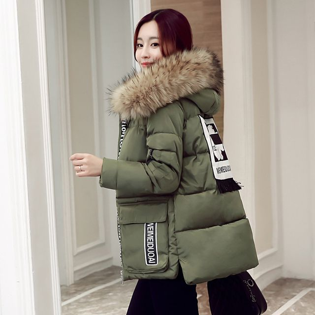 Plus Size M~5XL New 2016 Thick Jacket Women Parka Winter Hood Outerwear Down Coat Slim Fashion Cotton-padded For Female