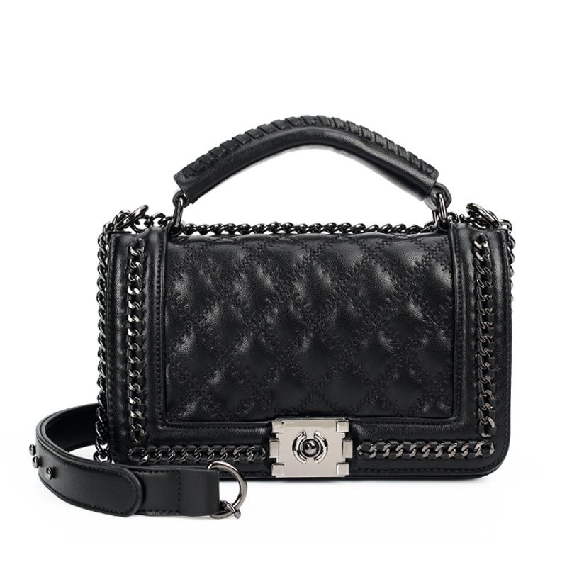 Women Messenger Bags Ladies Chain Shoulder Bag Fashion Crossbody Bag Double-use Quilted Chain Bags Brand Le Boy Handbag