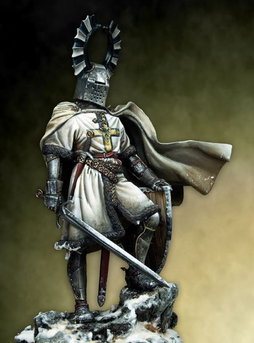 Unpainted Kit 1/18 90mm ancient Teutonic Knight   90mm   figure Historical  Figure Resin  Kit
