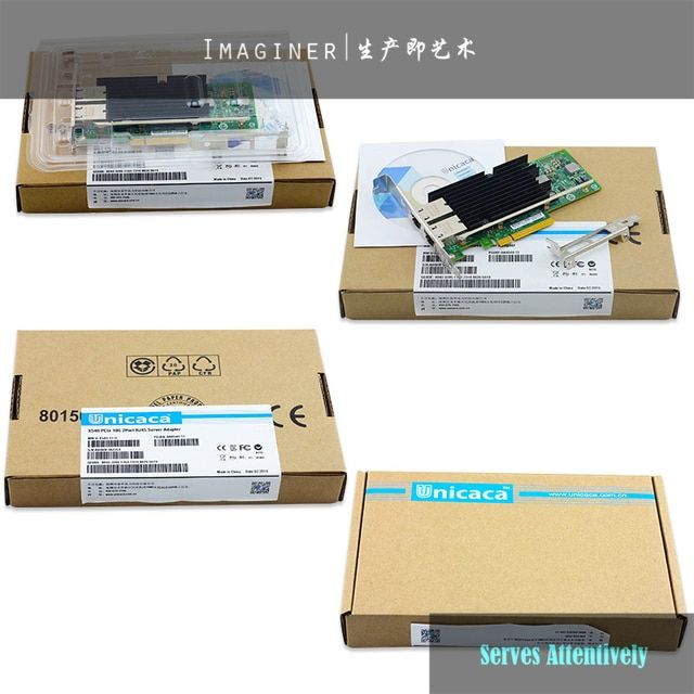 10Gigabit 10gb network card Factory New OEM X540-T2 Ethernet Network Adapter Dual Port RJ45 PCIe 2.0 X8 NEW CHIP BEST PRICE.