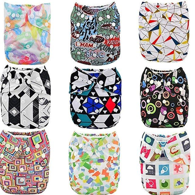 1PC Reusable Waterproof One Size Pocket Baby Infant Nappy Cloth Diapers Suede Cloth Inside wholesale