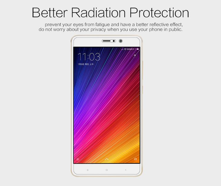 Brand NILLKIN Matte Scratch-resistant Protective Film For Xiaomi Mi5S Plus Screen protector,For Xiaomi Mi5S Plus case