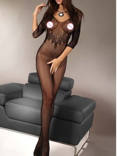 DL79395 Hot New Sexy Lace body stockings for women sexy and Fishnet Body Stocking black understand bodysuit women