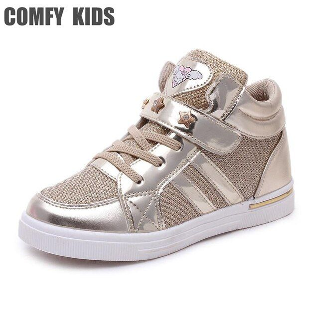Fashion casual child girls sneakers shoes size 27-36 comfy kids boys girls sports spring autumn breathable solid children shoes