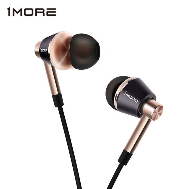 1MORE Triple Driver E1001 In-Ear Earphone for Phone HIFI Hybrid Earpiece Earbuds with Microphone and Remote for iOS and Android
