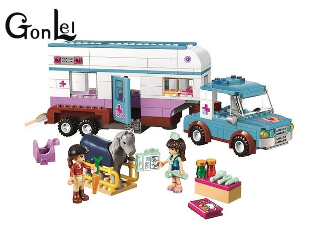 GonLeI BELA 10561 Friends Heartlake Pet Hospital Building Blocks Sets Diy Bricks Christmas gifts Toy Compatible Lepin For Girls