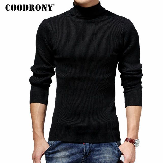 COODRONY Turtleneck Sweater Men Winter Thick Warm Wool Sweaters Christmas Knitted Cashmere Pullover Men Slim Fit Jersey Man 6703