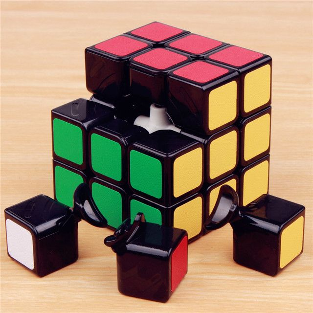 57mm Classic Magic cube 3 on 3 PVC Sticker Block Puzzles Speed Cube 3x3x3 Colorful Educational Cubo Magico Toys for children