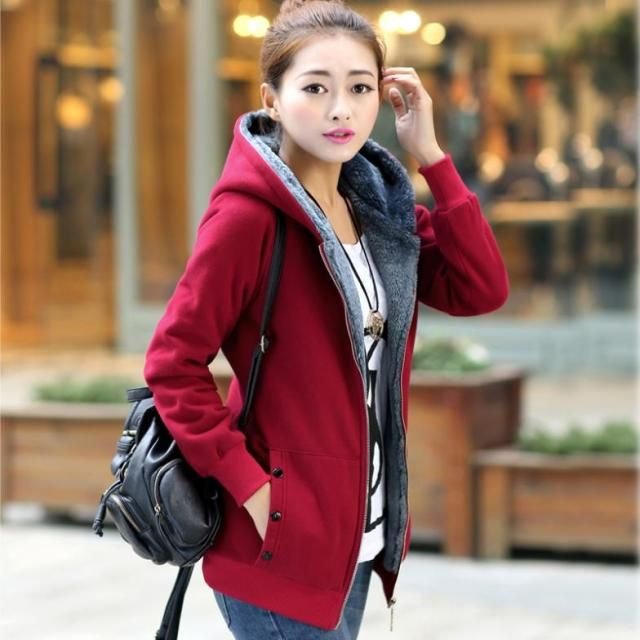 Plus Size XL-6XL(bust 51 inch) Woman Coat 2014New Autumn Winter Women's Coat Cotton Warm Jackets Women's Sweatshirts