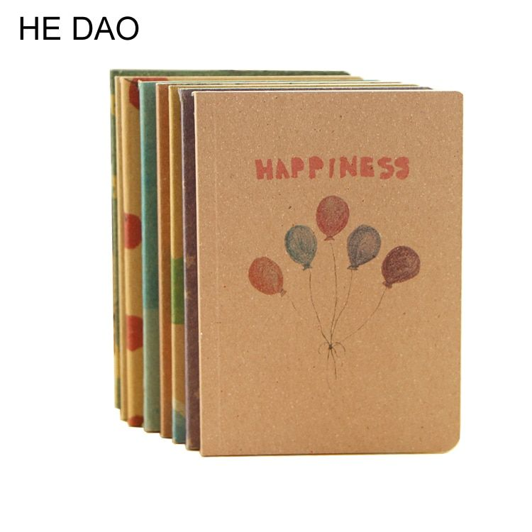 12.5 * 9 Cm 8 Types Fantastic Dream Notebook Cute Painting Copybooks Daily Book Material Escolar Stationery Office Suppliers