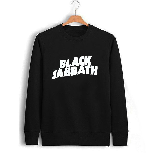 Black Sabbath Womens Sweatshirt Black Winter Autumn Letter Print Sweatshirt S - XXL Sweat Shirt Rock Music