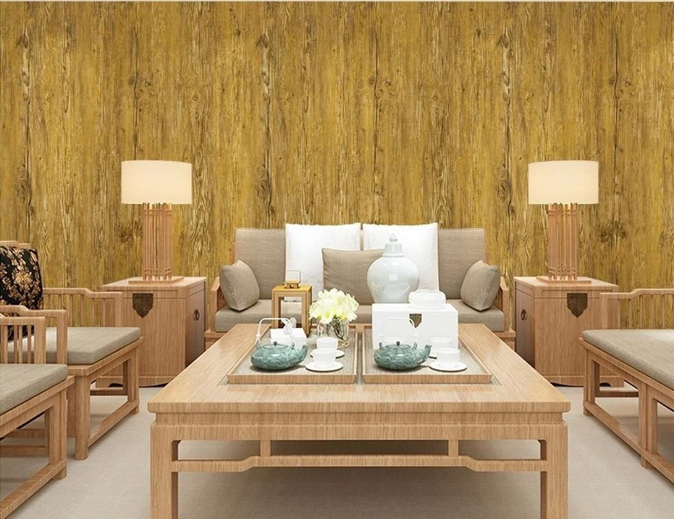 Top Classic 3D European Style roll wallpapers retro wood to do the trees wallpaper pattern wallpaper