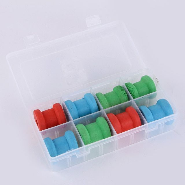 2015 8pcs/lot Fishing Tackle Box Winding Board Sponge Shaft Circle Cable Winder Fish Reel Coil For Fishing Accessories