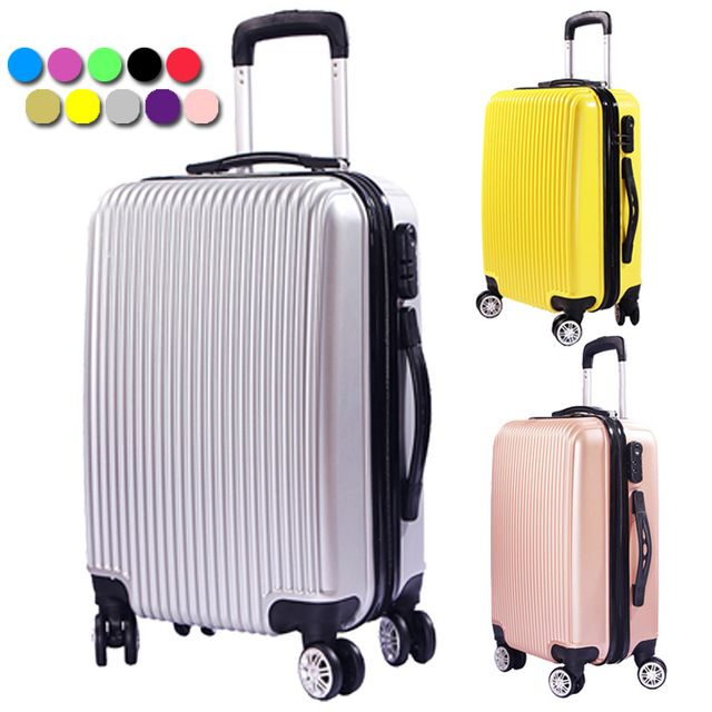 2017 New ABS Wear-resistant Upright Travel Trolley Rolling Luggage Suitcase 20INCH Spinner 4 Wheels Fochier XQ008