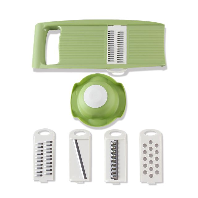 Multifunctional Mandoline Slicer with 4 Interchangeable Stainless Steel Blades Vegetable Cutter Potato Slicer Carrot Grater