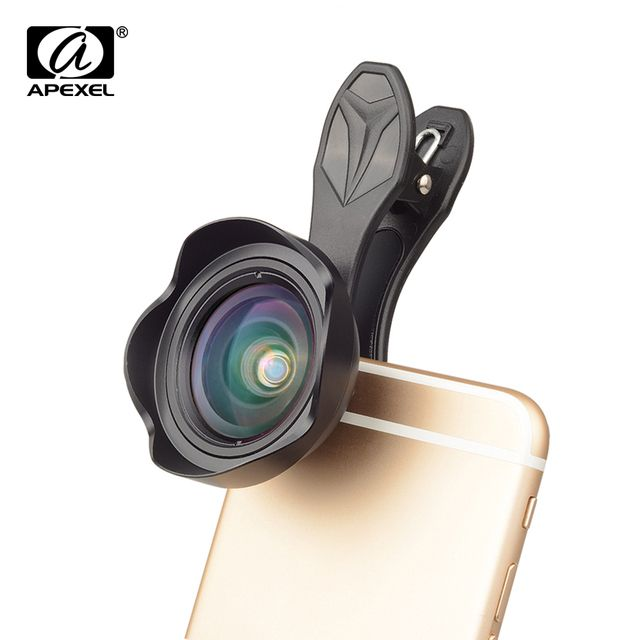 APEXEL 2018 New 15mm Wide Angle Lens  for iPhone 7 8 plus Samsung Xiaomi
