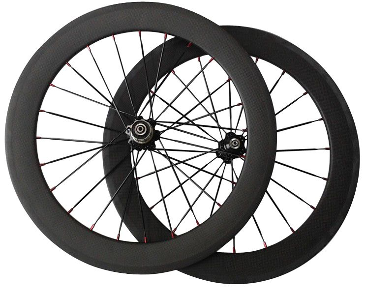 "good quality 20inch fold kid road bike 20"" carbon fiber wheels bmx 451 wheelset  front  100mm  rear 135mm"