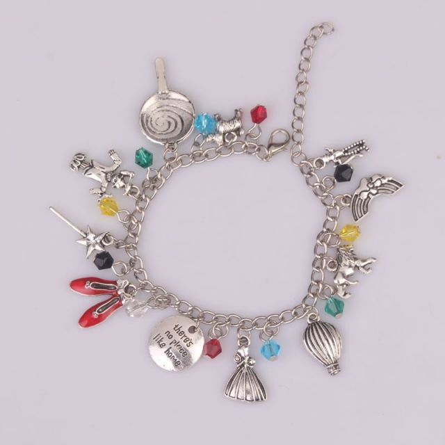 """There Is No Place Like Home"" Bracelet for Women 1pc a Lot  The Wizard of Oz Bracelet Bangle"