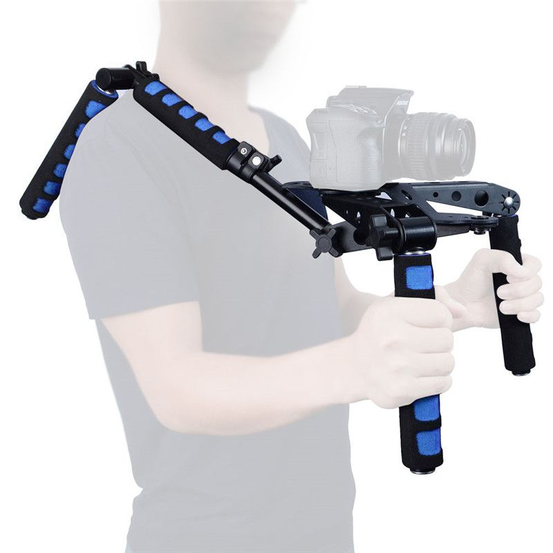 Mcoplus Foldable DSLR Shoulder Rig Set 107D Movie Kit Camera Shoulder Support Mount System for DSLR Cameras Video Camcorders