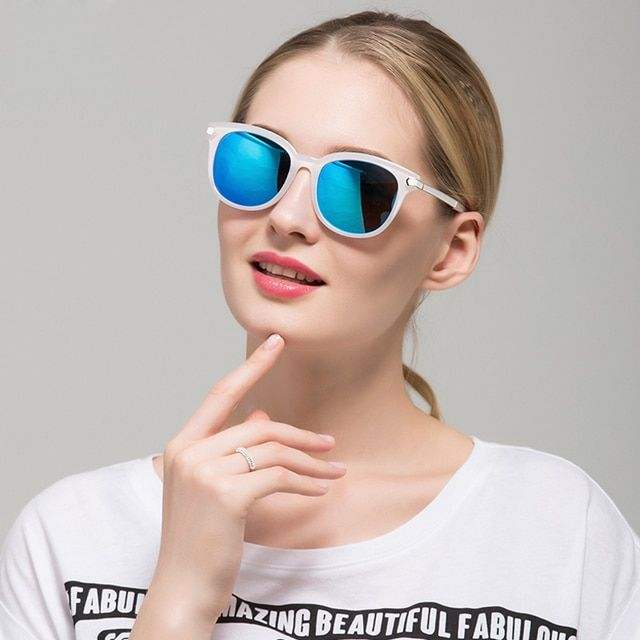 Women Brand Sunglasses Alloy Frame Polarized Mirror Lens Driver Sun Glasses Eyewears Accessories For Women Oculos de sol 1637