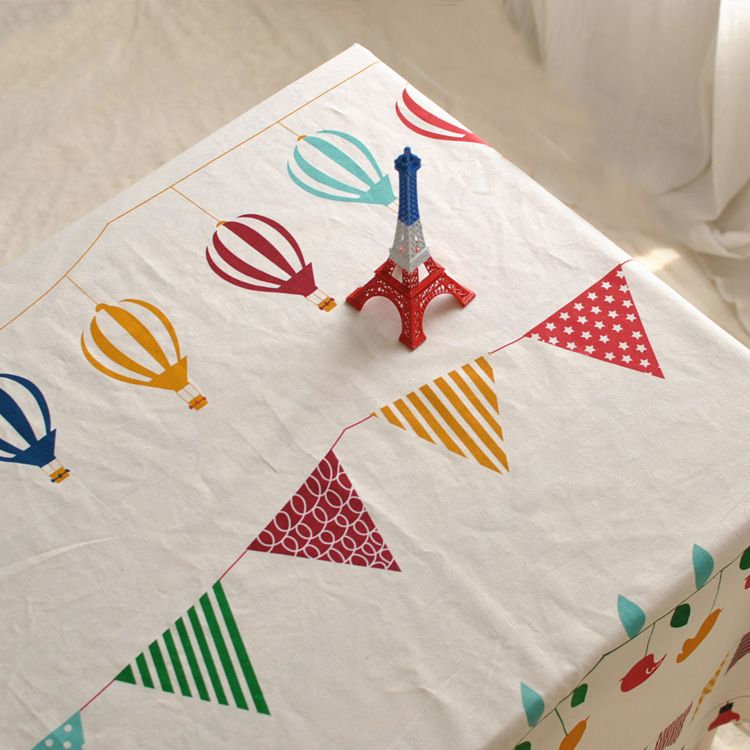 Modern cafe bar table cloth tea table cloth drape fresh cotton factory direct table cloth