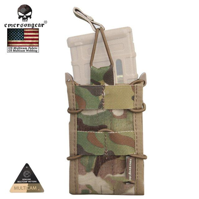 Emersongear Single Unit Rifle Tactical Magazine Pouch Multicam Military Army Utility Molle Pouch for M4 / M14 / AK / G3 / G36