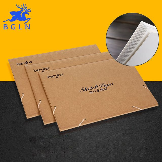 Bgln 20Sheets 8K Sketch Paper Professional Sketchbook Imported Sketch Paper Book Drawing Painting Sketch Art Supplies