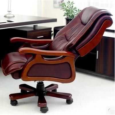 Can lay solid wood taipans chair leather office chair