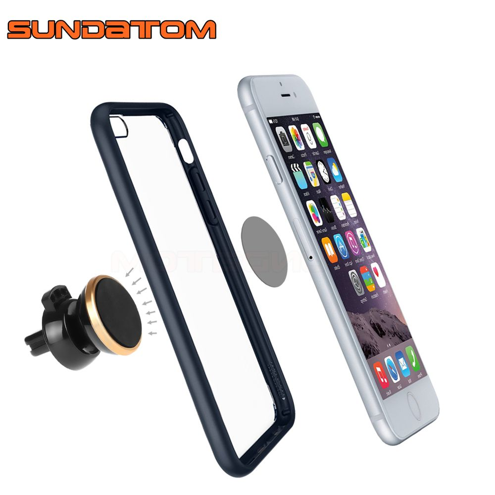 360 Rotating Universal Car Air Vent Mobile Phone Mount Magnetic Stand Holder For iPhone 7 8 Plus Samsung S8 S9 Xiaomi Lenovo