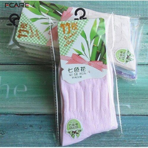 Fcare 16PCS=8 pairs Socks high quality plain solid color candy color socks bamboo fiber socks