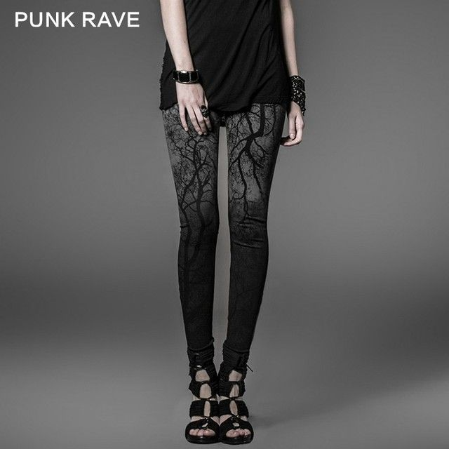 Punk Rave Tights with The Branches Hanging Colored Top Sale Ladies  Trousers K-181