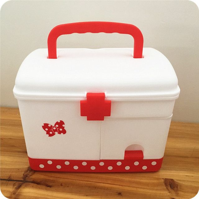 Japan Mickey Minnie Medication Storage Boxes Emergency Care Medical Kit