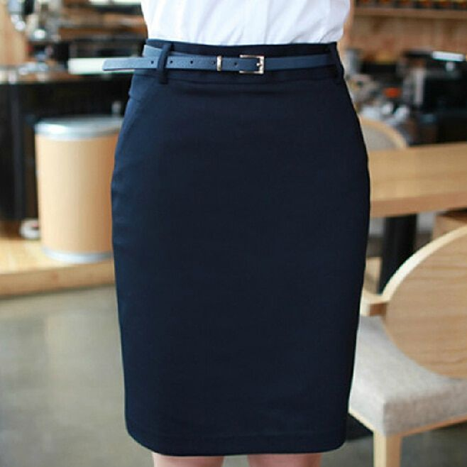 Pencil Skirts for Ladies Work Wear 2017 Summer Women's New Plus size S-2XLZipper Closed Formal Saias Short Black Office Skirts