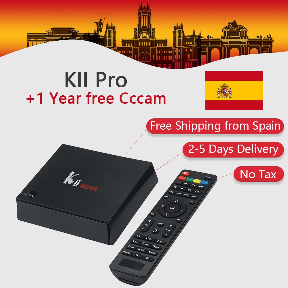 KII Pro Android TV Box Amlogic S905 BT4.0 Media Player 2G+16G Dual WIFI DVB-S2/T2 K2 PRO Set Top Box Satellite Receiver IPTV Box