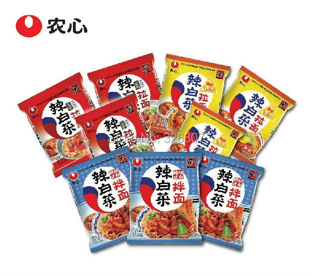 Korean food NongShim Shin overflow family hot cabbage instant stretched noodles 9bags